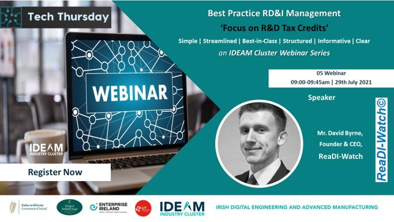 Tech Thursday - Best Practice RD&I Management