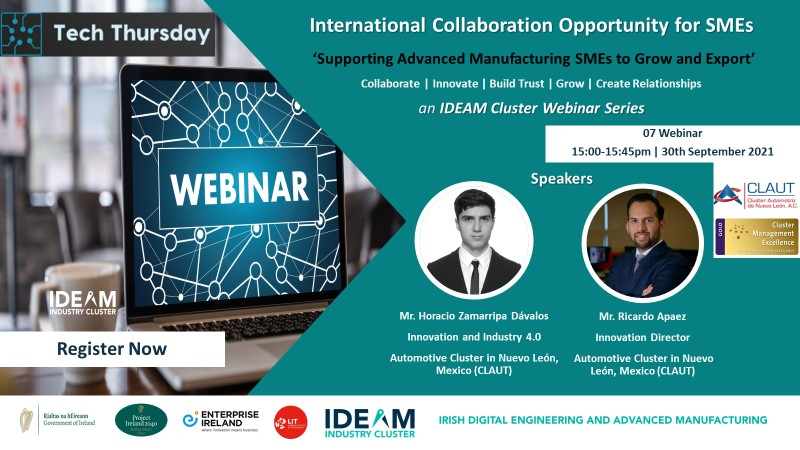 Tech Thursday - International Collaboration Opportunity for SMEs